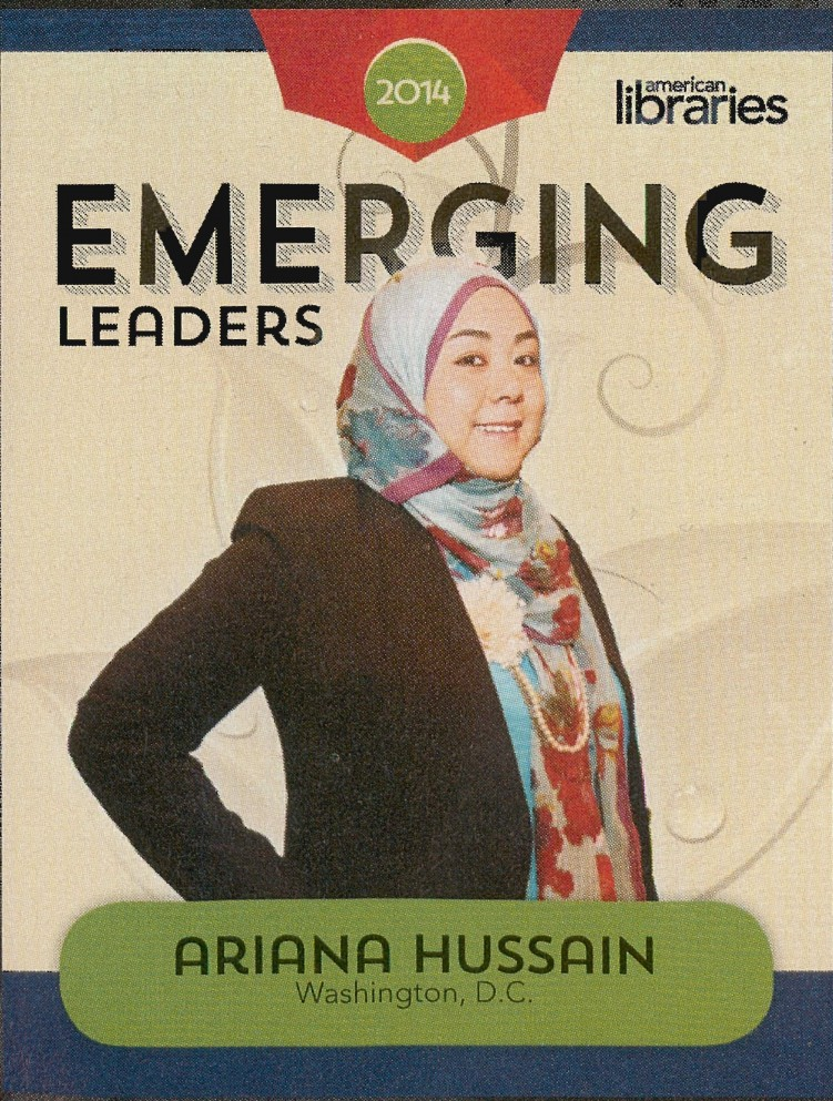 Image of ALA-Emerging Leader 2014 Trading Card featuring Ariana Hussain.