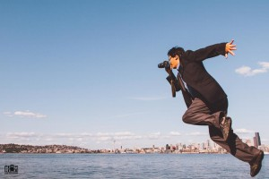Bryan Thao Worra defying gravity, viewing the world through a particular lens.