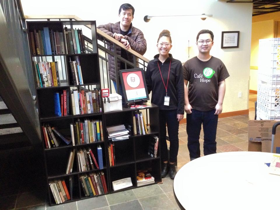The API Flying Bookshelf When It Landed At Cafe Hope In January 2014 Pictured