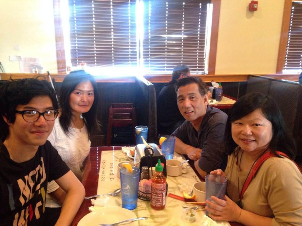 From left to right: Ray Pun, Sai Deng, Ven Basco and Ying Zhang.