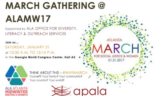 Image for APALA poster for ALA Atlanta March