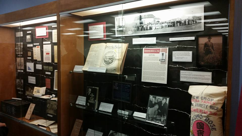 image of display cases of the exhibit EO 9066