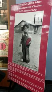 image of exhibit poster for Executive Order 9066 at Sac State University Library