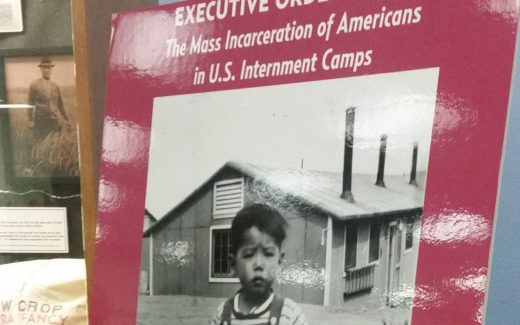 image of display title poster commemorating Executive Order 9066 at Sac State University Library