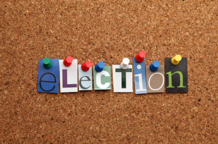 Image Election pinned on noticeboard