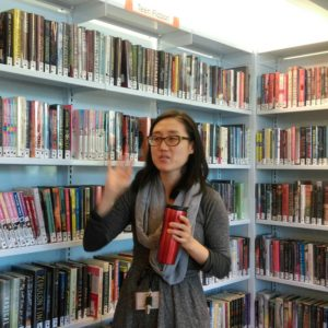 Assistant Community Library Manager Euni Chang discusses teen fiction reading trends.